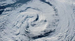 The hurricane over the ocean., satellite view. - stock footage