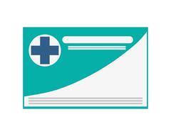 medical insurance card icon - stock illustration