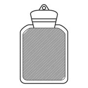 hot water bottle icon - stock illustration