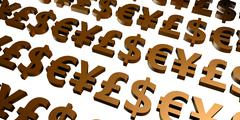 Global Currencies Stock Illustration