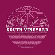 Winemaking, wine tasting graphic design concept - stock illustration