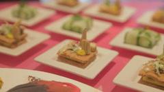 Pastries snacks elegant Stock Footage