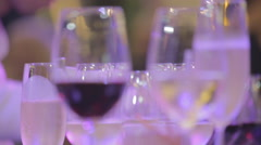 Coctail party bartender wine - stock footage