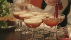 Coctails bartender close up Stock Footage
