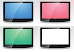 Set of LCD screens Stock Illustration