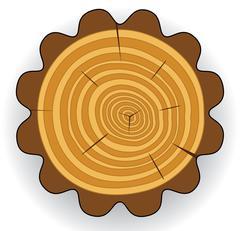 Wooden cut clip-art Stock Illustration