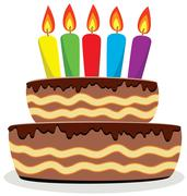 birthday cake - stock illustration
