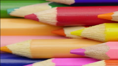 Colored pencils. Close up. Stock Footage