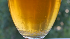 Beer With Bubbles Close up Stock Footage