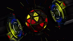Luminous Spherical Rotary Mechanism Stock Footage