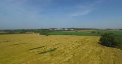 Aerial Shot - crane up  - Agricultural area Stock Footage