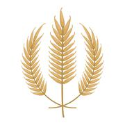 Wheat spike icon design Stock Illustration