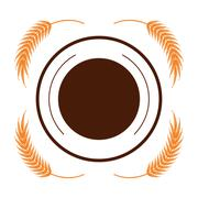 Wheat spike icon design - stock illustration