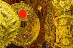 Gold Coin Chinese New Year Stock Photos