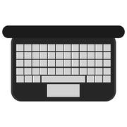 Laptop computer high view keyboard Stock Illustration