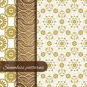 Lace vector fabric seamless patterns collection Stock Illustration