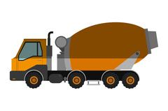 Concrete mixer truck icon Stock Illustration