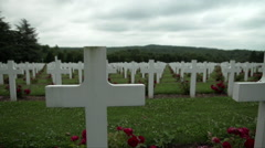 Pan WWI Cemetery Douaumont France - 0032 Stock Footage
