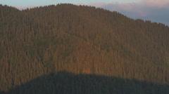 Morning panorama of the Carpathian mountains Stock Footage