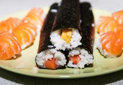 Homemade prepared traditional japan sushi Kuvituskuvat