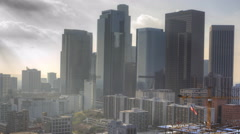 4K UltraHD A Timelapse view of misty Los Angeles city center Arkistovideo