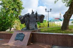 Monument to Alexander Pushkin, Vitebsk, Belarus - stock photo