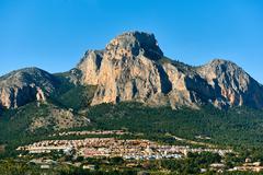 Picturesque spanish hillside village Polop de la Marina.  Spain Stock Photos