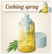Detailed Icon. Cooking oil spray Stock Illustration