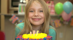 Girls Birthday Party - stock footage