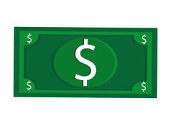 Dollar bill usd money business Stock Illustration