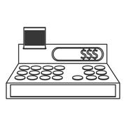 Cash register cashier flat icon Piirros