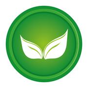 green leaves leaf nature - stock illustration