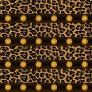 Texture, seamless pattern, wallpaper, fabric. Leopard and precious stones Stock Illustration