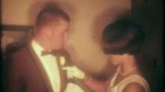 3450 well dressed teenagers ready for the big dance-vintage film home movie - stock footage