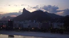 Aerial Lake Rodrigo de Freitas area Rio de Janeiro Stock Footage