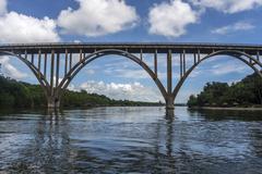 the highest bridge of Cuba - stock photo