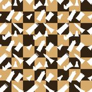 Seamless pattern chessboard and chess pieces - stock illustration