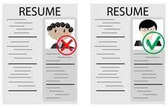 Approval and rejection hiring Stock Illustration