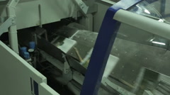 Work of conveyor newspaper and magazine typography, production line Stock Footage