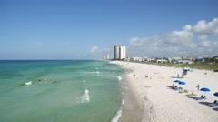 Florida Gulf Coast Shoreline Stock Footage