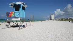 Lifeguard Station On Panama City Beach, Florida Stock Footage
