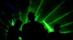 Laser aura dancers Stock Footage
