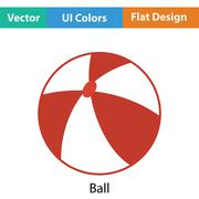 Baby rubber ball icon - stock illustration