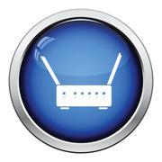 Wi-Fi router icon Stock Illustration