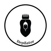 Depilator icon Stock Illustration