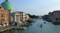 Venice - The Canal Grande from the Ponte degli Scalzi Stock Footage