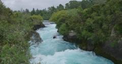 Huka falls, Waikato river, taupo, New Zealand Stock Footage