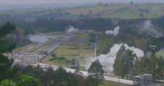Wairakei geothermal power station, taupo, New Zealand Stock Footage