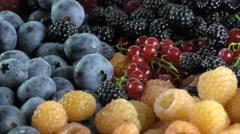 Fresh berries assortment Stock Footage