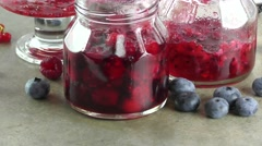 Homemade  jam rotating Stock Footage